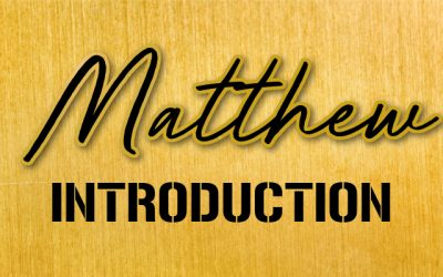Matthew: An Introduction